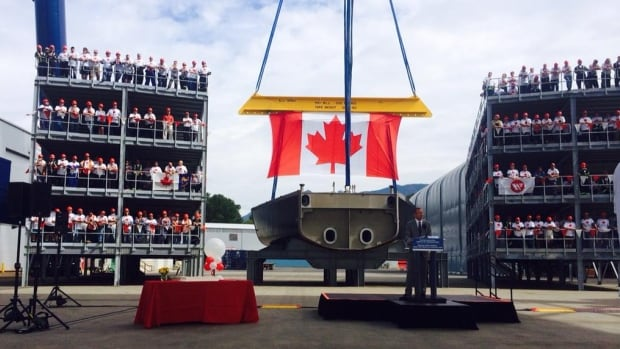 Construction is underway at the North Vancouver shipyards on the first of three science vessels for the Canadian Coast Guard. New Liberal ministers have been warned the government's $39-billion shipbuilding strategy needs an action plan.