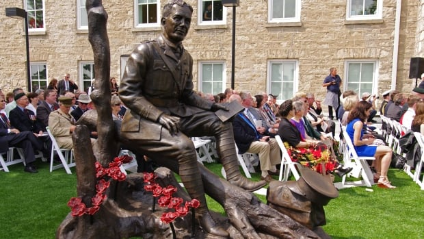 John McCrae statue unveiling guelph