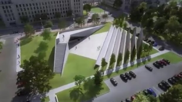The original winning design for a monument to victims of communism was criticized for both its scale and location.