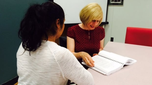 OPT meets with Cathy Kolar of Legal Assistance of Windsor. A human rights tribunal awarded her $150,000 in a case involving sexual abuse and discrimination.