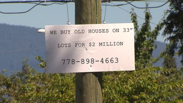 A Vancouver real estate agent posted this sign at 20th and Macdonald in Kitsilano.