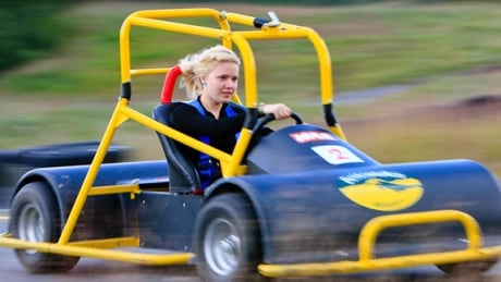 Sun peaks opens 1st mountain cross cart course in north for Go kart montreal exterieur