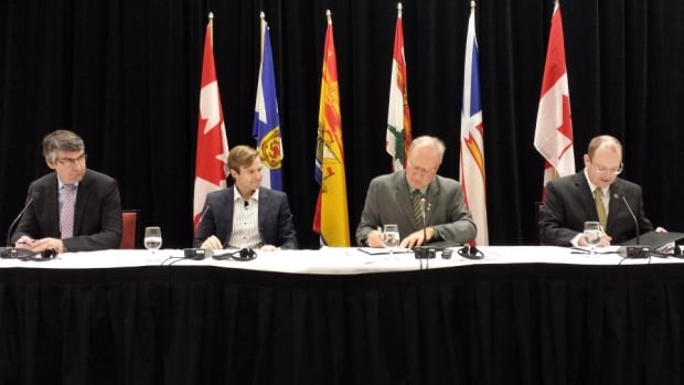 Representatives at the Council of Atlantic Premiers conference sign a memorandum of understanding to allow apprentices mobility around the region during trades training.