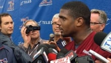 Michael Sam back with Alouettes following personal issues