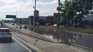 Flash flooding causes problems near Chinook Centre ...
