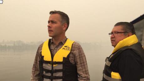 Sask. NDP leader Cam Broten in northern fire zone