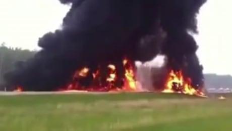Highway 63 video captures fiery crash