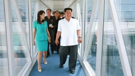 NORTH KOREA-AIRPORT Kim Jong un Ri Sol Ju June 25 2015