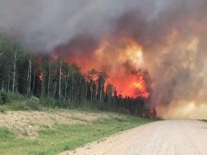 Sask Wildfires June 29 2015 Hwy 969