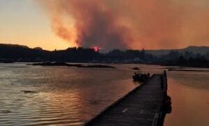 Port Hardy wildfire