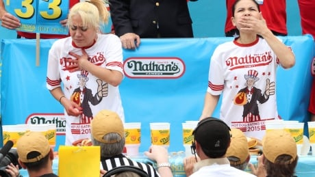 Miki Sudo wins womens hot dog eating contest