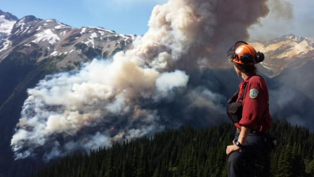 An evacuation order has now been issued for two pumice mines in the vicinity of the Boulder Creek fire 23 kilometres northwest of Pemberton.