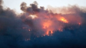 Wildfire risk creeping back up in B.C. as warm weather continues
