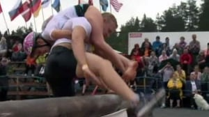 Wife-carrying world championships in Finland