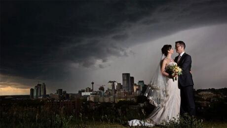 Facebook storm wedding photo