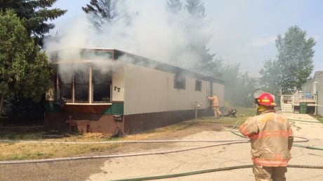 Fire at Moose Jaw trailer park sends woman to hospital