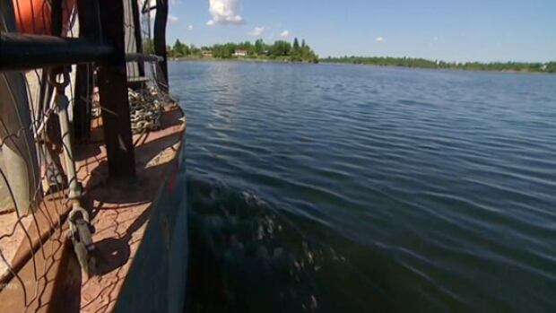 A ferry is the only way to get in and out of Shoal Lake 40 First Nation during summer.