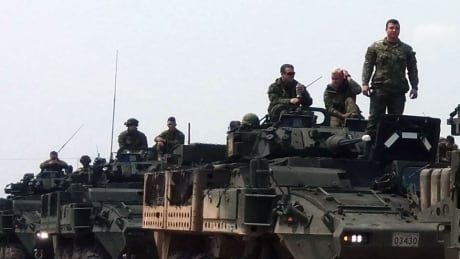 Soldiers arrive in North Battleford