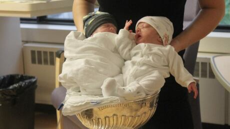Babies in the Stanley Cup
