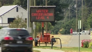 Level 4 water conservation outside Nanaimo
