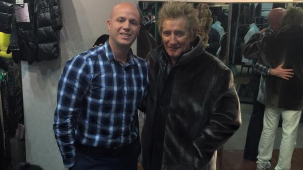 British rocker Rod Stewart paid an unexpected visit to Always In Vogue furrier in downtown St. John's on Saturday.