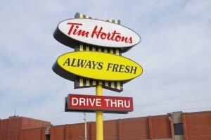 Tim Hortons sign in Windsor