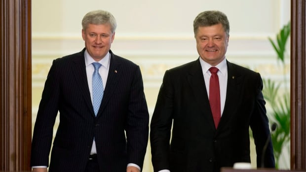 Prime Minister Stephen Harper met Ukrainian President Petro Poroshenko during his visit to Kyiv last month. Beyond the headlines about trade and military assistance, Canada has been funding democratic initiatives to help build civil society in a country plagued with corruption.