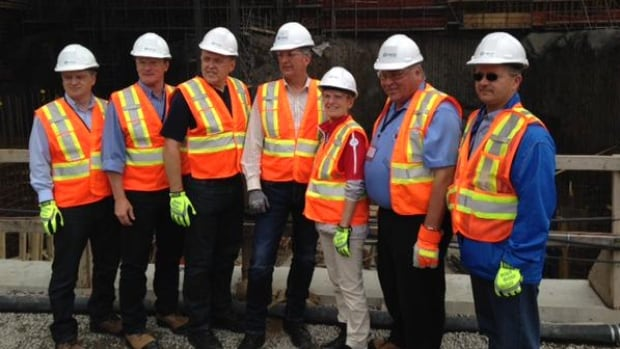 Some Canadian premiers took in a tour of the Muskrat Falls site on Tuesday.