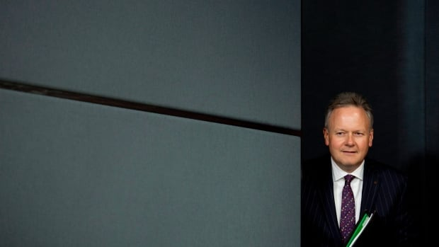 Bank of Canada governor Stephen Poloz steps onto the stage at the National Press Theatre for a news conference Wednesday. It was a delicate performance.
