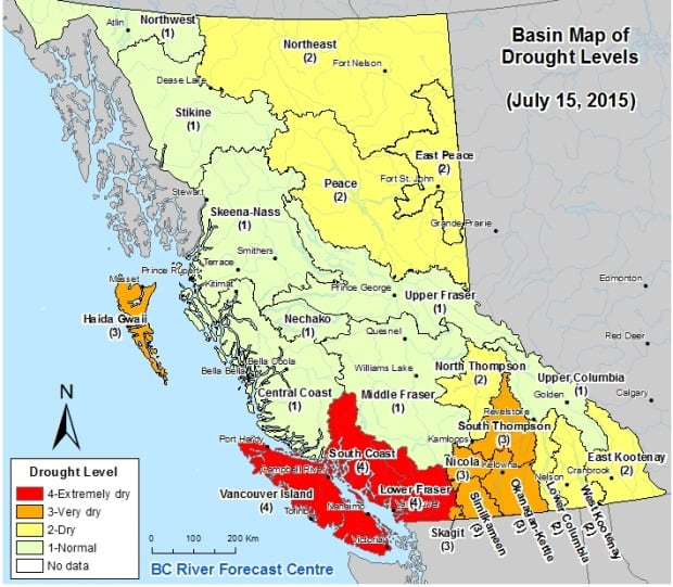 Drought map July 15