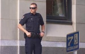 Police presence at city hall