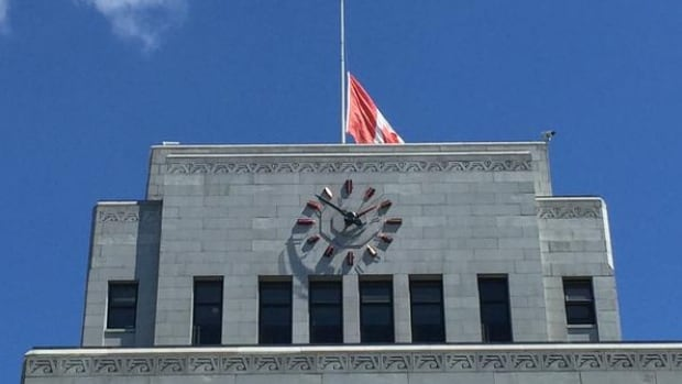 The flag at Vancouver City Hall was at half-mast today, following the shooting death of longtime employee Hanif Jessa.