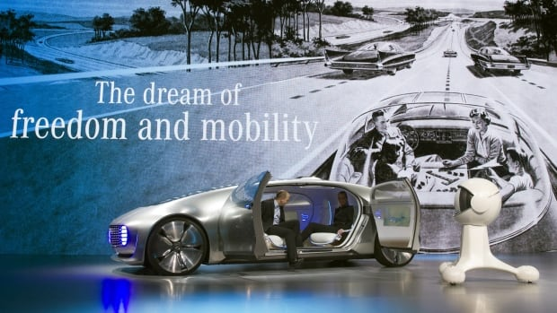 Germany's Daimler AG promotes its Mercedes-Benz F015 Luxury in Motion autonomous concept car during the 2015 International Consumer Electronics Show in Las Vegas, Nevada Jan 5.