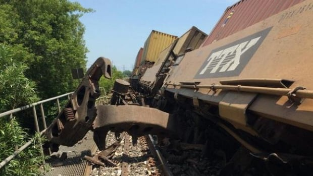 CN says several cars on an intermodal train have derailed near Bowmanville, Ont.