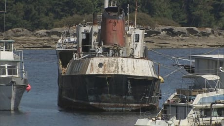 Derelict vessel filled with fuel to be removed from Ladysmith Harbour