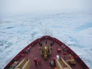 CCGS Radisson in sea ice