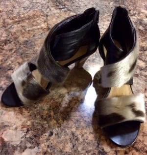 Nicole Camphaug's sealskin shoes