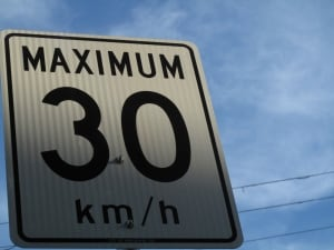 Speed limits Rossland 30 km/h