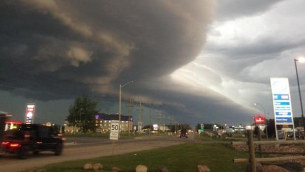 Central Alberta Hit By Golf Ball Sized Hail Heavy Rain