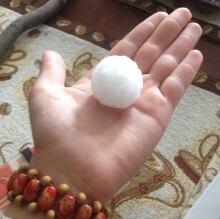 Hail in Woodlands