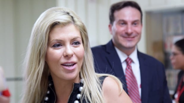 Former Conservative MP Eve Adams, left, lost by a wide margin to Marco Mendicino, right, in Sunday's vote over who will represent the Liberals in the Toronto riding of Eglinton-Lawrence. Adams' welcome into the party by Liberal Leader Justin Trudeau angered some party members.