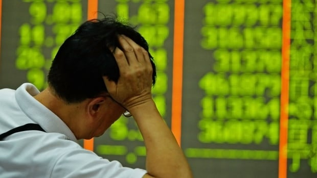 China's benchmark Shanghai stock index fell by more than eight per cent in Monday trading.