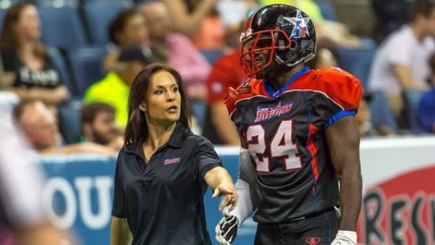 Jen Welter played running back and special teams in 2014 for the Texas Revolution of the Indoor Football League, becoming the first woman to hold a non-kicking position for a men's professional sports league.