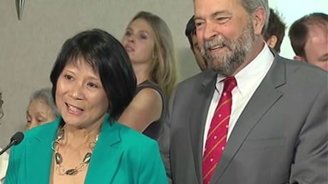 Olivia Chow and Tom Mulcair