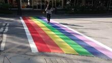 New West rainbow crosswalk