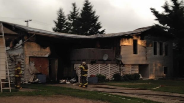 The home at 65 2nd St. SW in Wadena was severely damaged by the fire. Lightning is suspected as a cause.