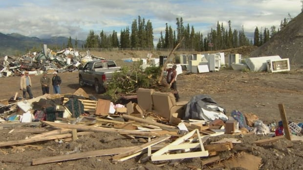 The dump at Marsh Lake, outside of Whitehorse. Dump managers said last summer the facility was running out of room because people were travelling to avoid fees at the Whitehorse landfill. The Marsh Lake facility does not charge tipping fees.