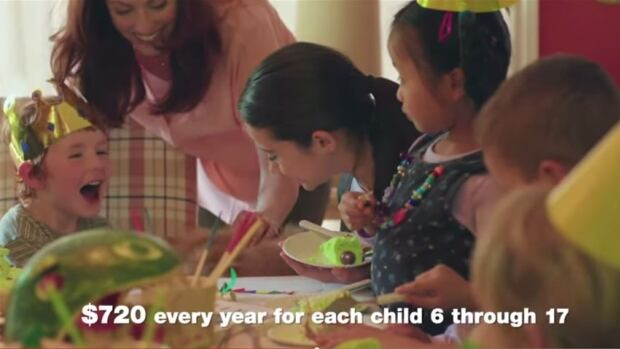 The federal government's UCCB ads tell parents they will get $720 for each kid over 6. But the take-home amount is typically much less.