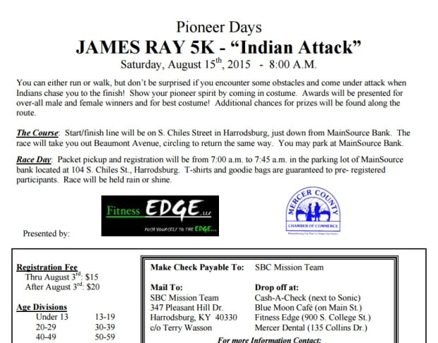 James Ray 5K sign up