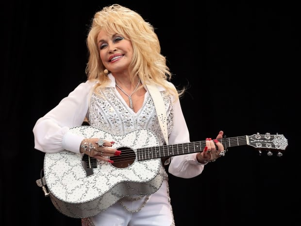 Dolly Parton performs at Glastonbury Festival in June 2014